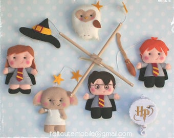 Musical Baby Mobile Harry Potter Mobile Custom Mobile for Crib Nursery Modern Theme Baby Crib Mobile Cot Wizard Bedding Decor Music Box BB 7