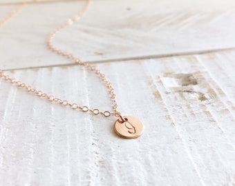 Initial Necklace, Personalized Initial Necklace, Tiny Initial Necklace, Monogram Necklace, Everyday Wear, Personalized Gift