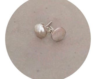 Small Sterling Silver Disc Studs