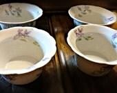 Limoges Berry Bowls ~ Bassett Austria ~ Violets