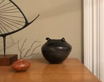 1960's James Wayne Glass Vase