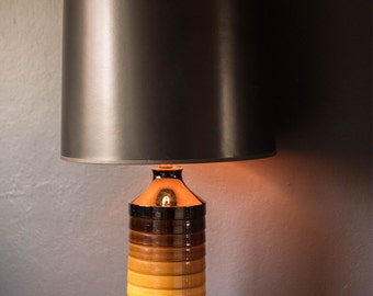 Vintage Mod Cylindrical Table Lamp
