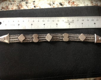 Yemen Bracelet, mesh band, old symbols, high content
