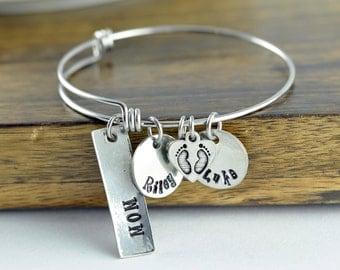 Mom Bracelet, Gift for Mom, Mommy, Mother gift, Mommy Bracelet, Personalized Mom Bracelet - Name Bracelet for Mom - Kids Name Bracelet