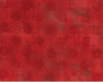Grunge Hits the Spot - Dots in Red - Basic Grey for Moda - 30149-22 - 1/2 yard