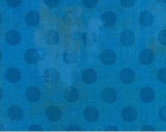 Grunge Hits the Spot - Dots in Sapphire - Basic Grey for Moda - 30149-27 - 1/2 yard
