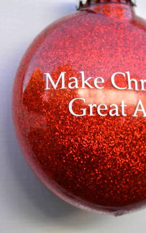 Donald Trump Funny glitter Christmas Ornaments Present for
