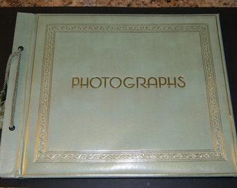 Vintage Photo Album, Springfield Photo Mount Company Photographs