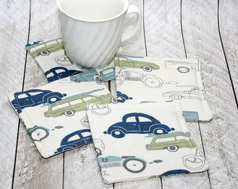 Retro Automobile Coasters, Set of 4