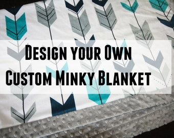 Custom Minky Baby Blanket - Design Your Own Baby Blanket