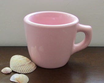 Shell Pink Coffee Cup Vintage Restaurant / Diner Ware by Sterling China 1940s-50s