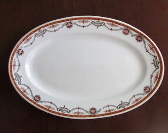 1929 Oval Serving Dish Platter by Grindley Hotel Ware England