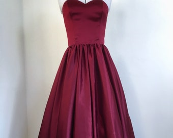 Red satin dress-prom, wedding, occasion, formal