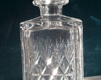 Cut Glass English Crystal Whiskey Decanter. Thomas Webb