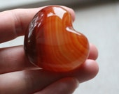Carnelian Large Puffy Shaped Heart #80919