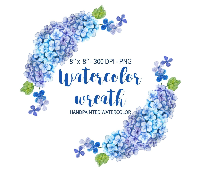 Watercolor Wreath Wreath Clipart Wreath Floral Clipart