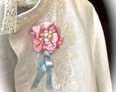 Rose N' Pearl  Pin