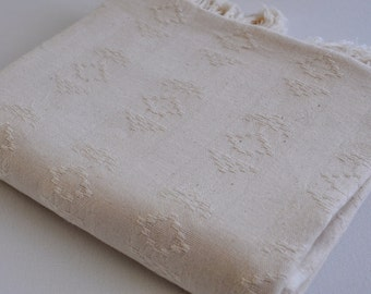 Turkish Towel Rug pattern Peshtemal towel Cotton Peshtemal towel in natural ivory color