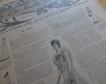 4 Art Nouveau Fashion Magazines,  French Magazines,  La Mode Pratique  Dated 1901