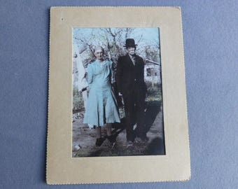 Vintage Photograph in style of 'American Gothic'