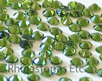 Fern Green 9ss Swarovski Elements Rhinestones 2058 Flat back 1 gross (144 pieces)