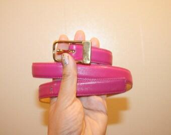 Pink Leather Belt,dress belt,skinny leather belt,girls belt,leather belt,high waist belt,skinny belt,small pink belt,small belt