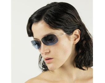 CHANEL 90s  Pearl Rimless Sunglasses