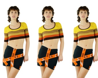 D&G Reflective Tape Mini Skirt