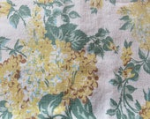 vintage feed sack fabric -- yellow and green floral print