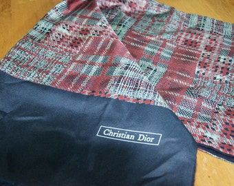 Vintage Authentic Christian Dior Silk Wool Scarf