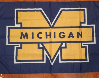 University of Michigan Wolverines 3 X 5 Feet Flag Banner NCAA College University Fan