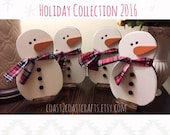Handcrafted Snowman Table or Hanging Decoration