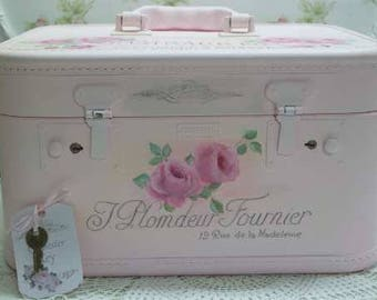 French Rose Train Case