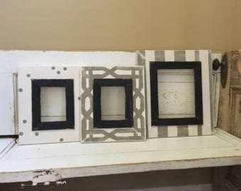 Grouping of (2) 5x7 Picture Frames & (1) 8x10 frame