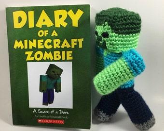 Crocheted Minecraft Zombie