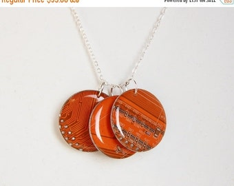 Recycled circuit board bubble necklace - geeky jewelry - contemporary necklace