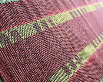 Red, Black and Gold handwoven rug