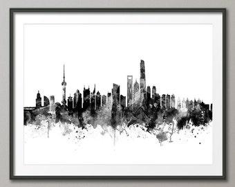 Shanghai Skyline, Shanghai China Lujiazui Cityscape (2647)