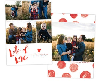 INSTANT DOWNLOAD - Valentine Photocard Template - e1448