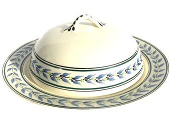 1920s George Jones & Sons Crescent Ivory Muffin Dish Vintage Tureen Pancake Dish Housewares Serving Table