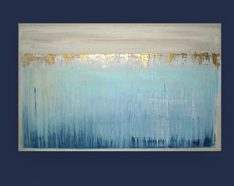 """Art, Large Painting, Original Abstract, Acrylic Paintings on Canvas by Ora Birenbaum Titled: DREAM 3 30x48x1.5"""""""