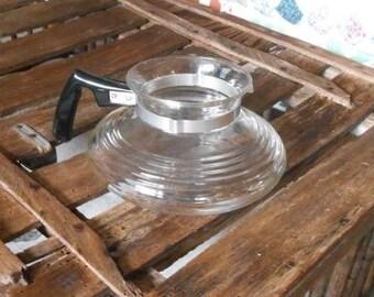 Mid century  glass coffee server pot vase