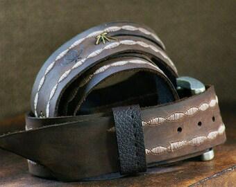 Simple Fly Chic Leather Belt, Dark Brown Women's Leather Belt, Genuine Leather Belts, Boho Leather Belt, Boutique Women's Belt, Gypsy Style