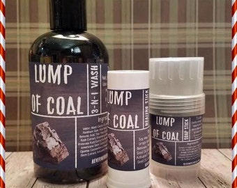 Lump Of Coal Moisturizing Gift Set Body Wash Healing Stick Soap Stik Shaving Black Friday Cyber Monday Small Business Saturday