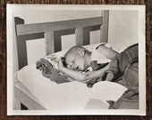 Original Vintage Photograph All Tuckered Out
