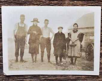 Original Antique Photograph Wayward Winds