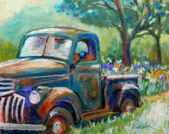 1941 Chevy Pickup Truck - original oil painting