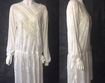 1920s wedding dress, flapper length