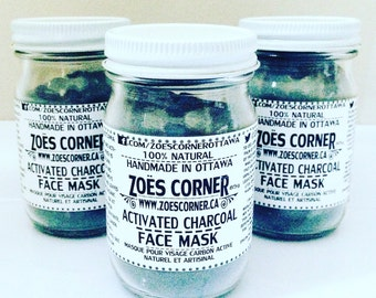 Activated Charcoal - Face Mask -All Natural -Handmade
