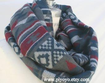 Best selling items, Chunky winter womens scarves, tribal print, Aztec Infinity scarves scarfs, Women Shawls Wraps scarf, Thick Scarf, PiYOYO